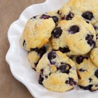 Blueberry Shortcake Cookies are soft, sweet cookies made with yogurt and packed with fresh blueberries! - Bake or Break