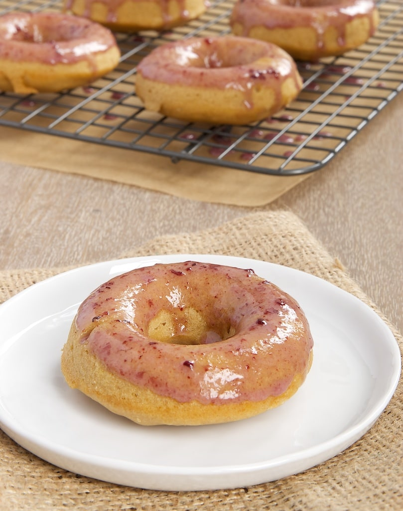 Peanut Butter and Jelly Doughnuts are sweet and nutty. A fun and tasty way to enjoy your peanut butter and jelly!