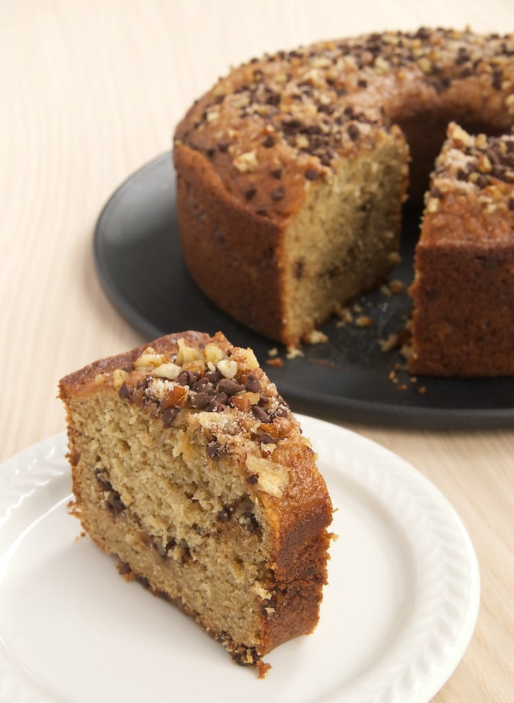 slice of Sour Cream Banana Coffee Cake