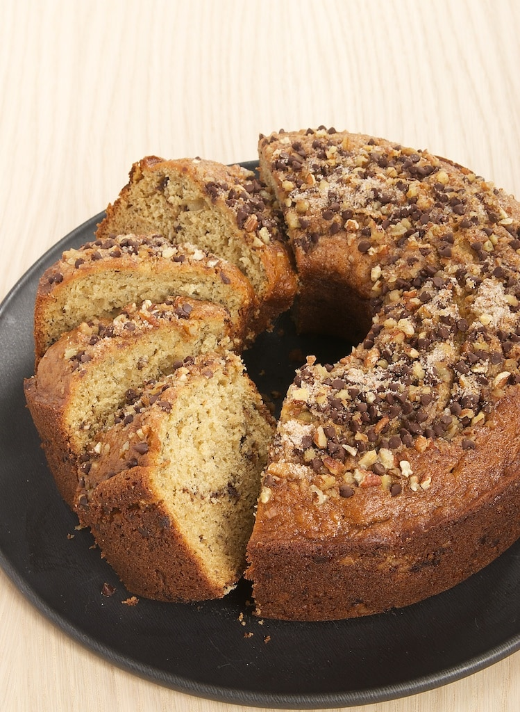 sliced Sour Cream Banana Coffee Cake