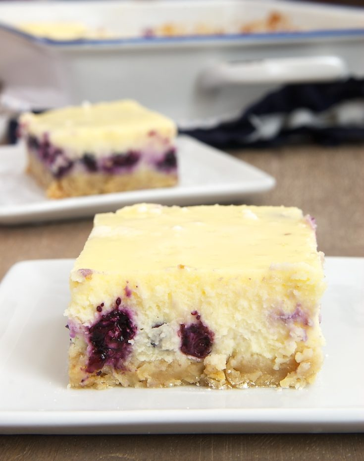 Blueberry Oat Cheesecake Bars combine a chewy oatmeal crust, fresh blueberries, and a sweet cream cheese filling for an irresistible dessert. - Bake or Break