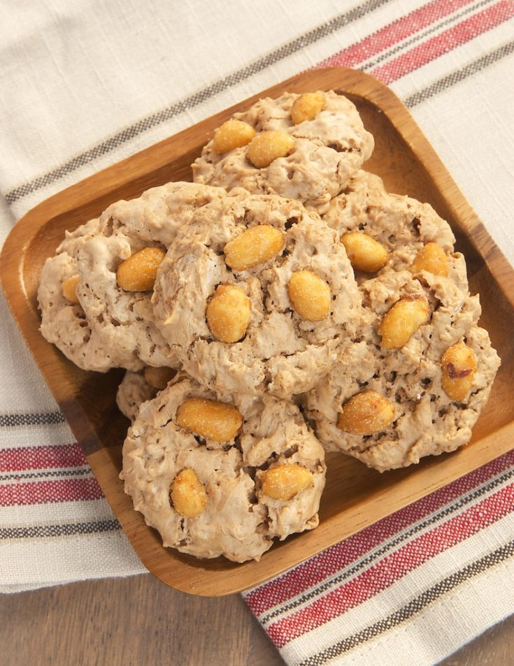 Peanut Butter Meringue Cookies are light, crispy, sweet, and so addicting!