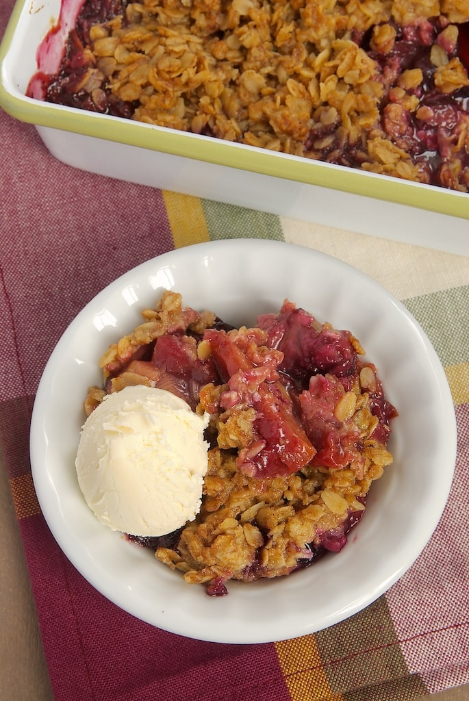 Gather all your favorite summer fruits for this Summer Fruit Crisp topped with a cinnamon oat topping.
