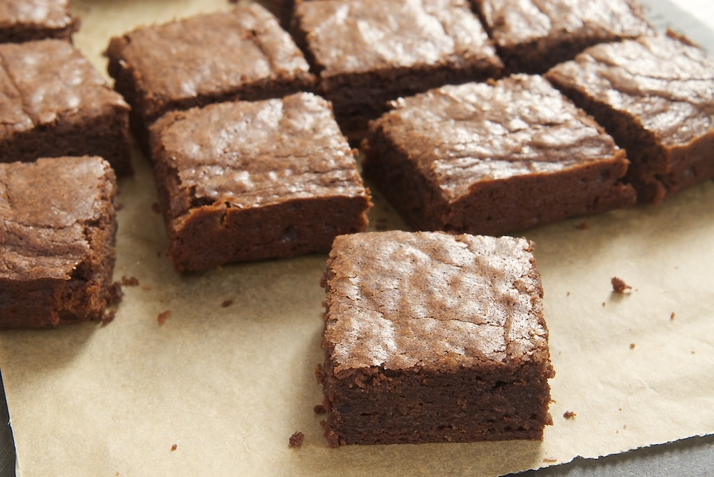 What's better than a batch of freshly baked brownies? These rich, dark, fudgy brownies are irresistible! - Bake or Break