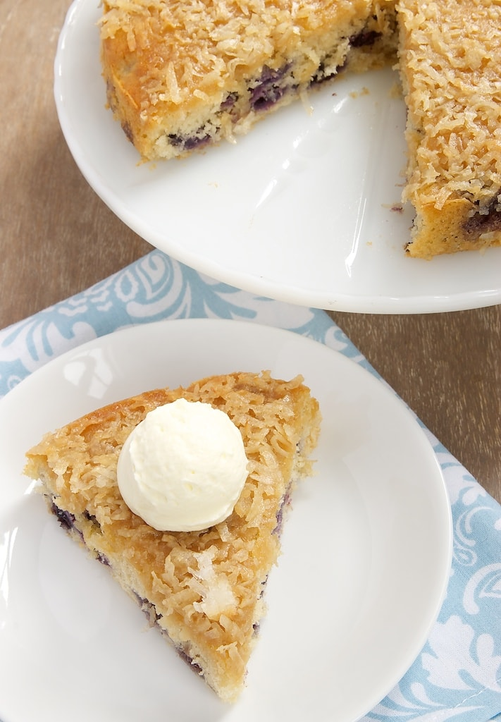 Fresh blueberries and toasty coconut make for a delicious cake that's quick and simple to make. - Bake or Break