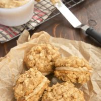Butterscotch Oatmeal Sandwich Cookies