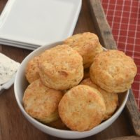 Enjoy these Savory Cream Cheese Biscuits sandwiched alongside your favorite soup or chili, or just enjoy them all on their own!
