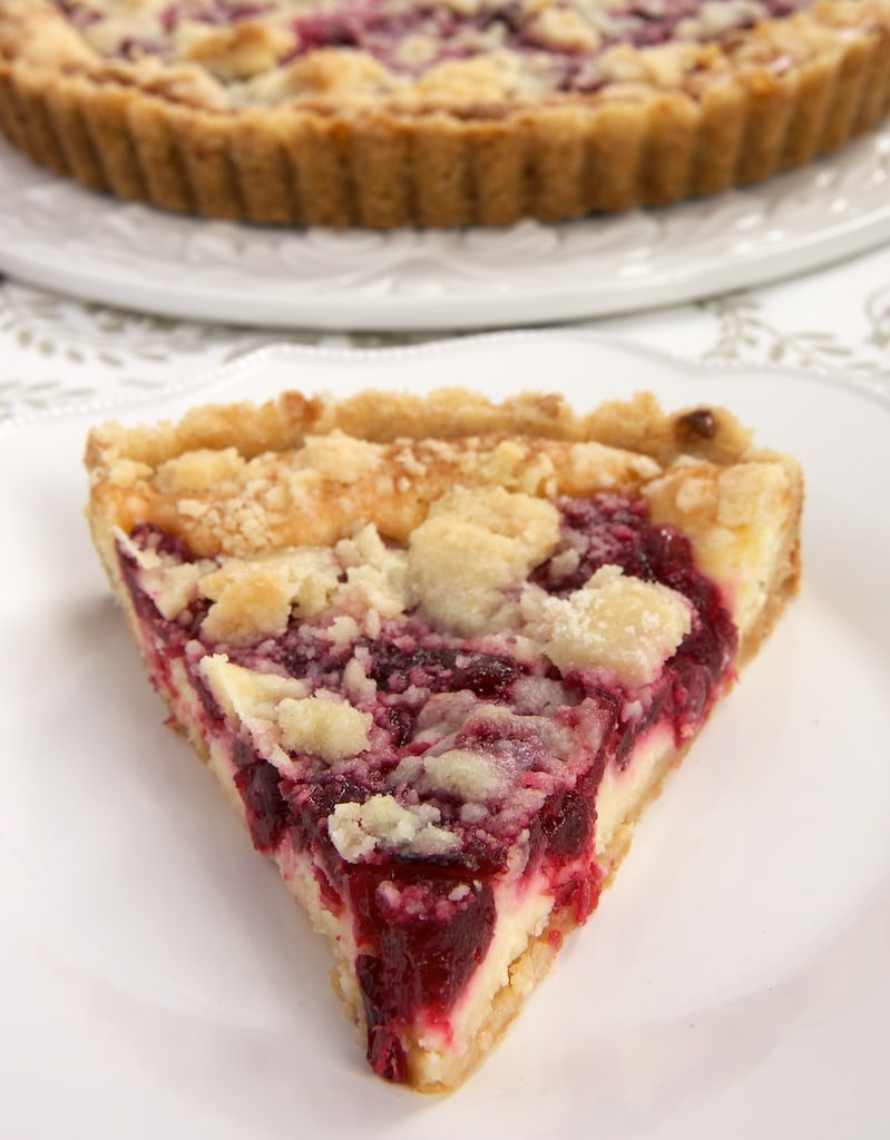 slice of Cranberry Cheesecake Pie