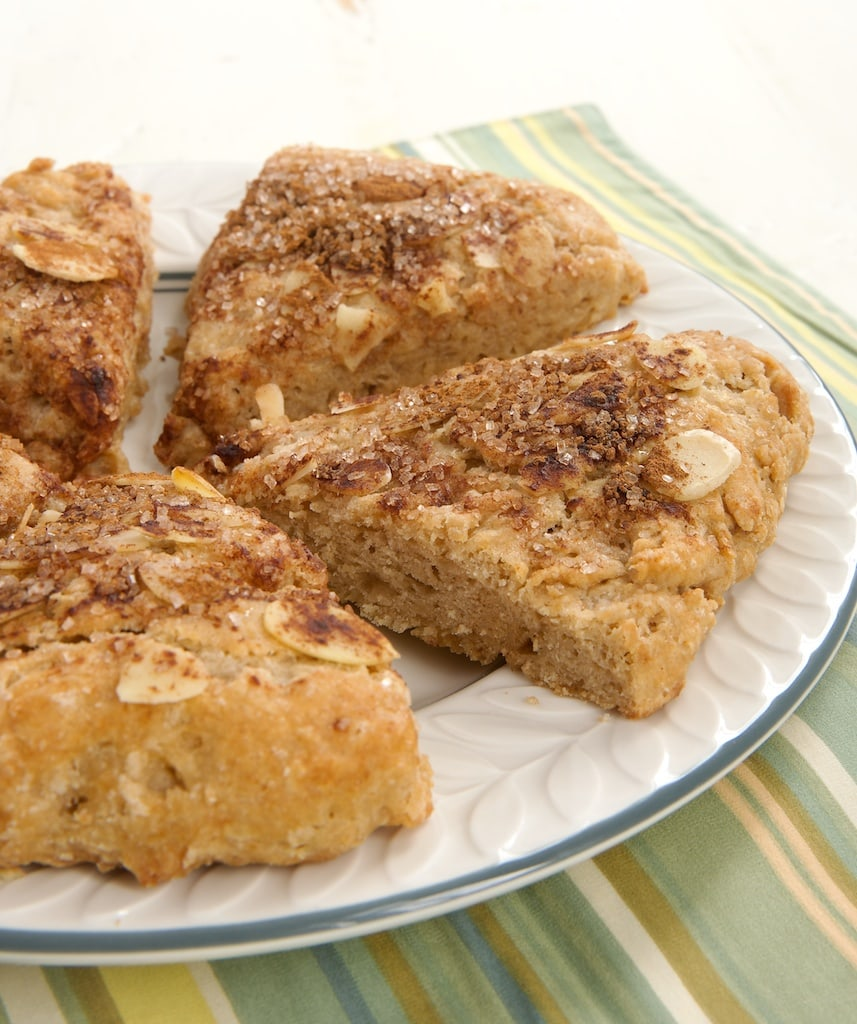 These lovely Cinnamon Almond Scones are a perfect treat to start your morning or to enjoy with your afternoon tea of coffee. - Bake or Break
