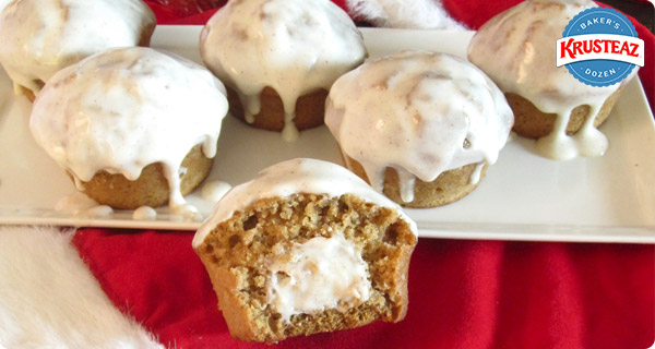 Eggnog Cheesecake Pumpkin Muffins