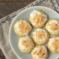 These little Toasted Coconut-White Chocolate Cookies pack a big flavor punch! - Bake or Break