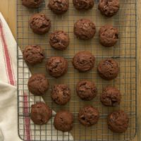Coffee-flavored liqueur and lots of chocolate make these Fudgy Kahlua Brownie Cookies an irresistible treat!