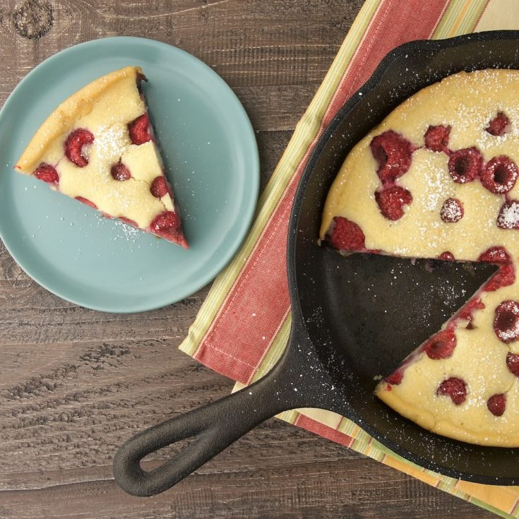 This Raspberry Skillet Pancake is a quick, simple, delicious way to enjoy pancakes!