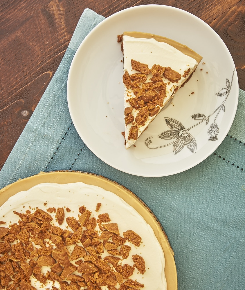Sweet, spiced cookie butter takes center stage in this Cookie Butter No-Bake Cheesecake! - Bake or Break