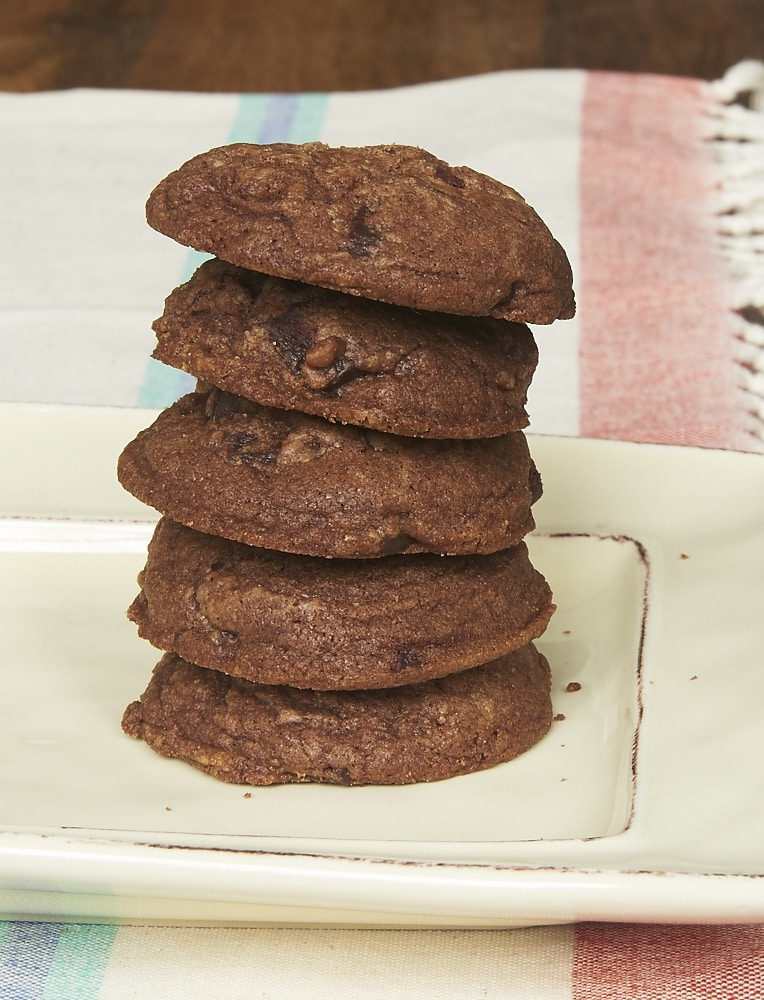 Get a double dose of chocolate with Chocolate Chocolate Chip Cookies! - Bake or Break