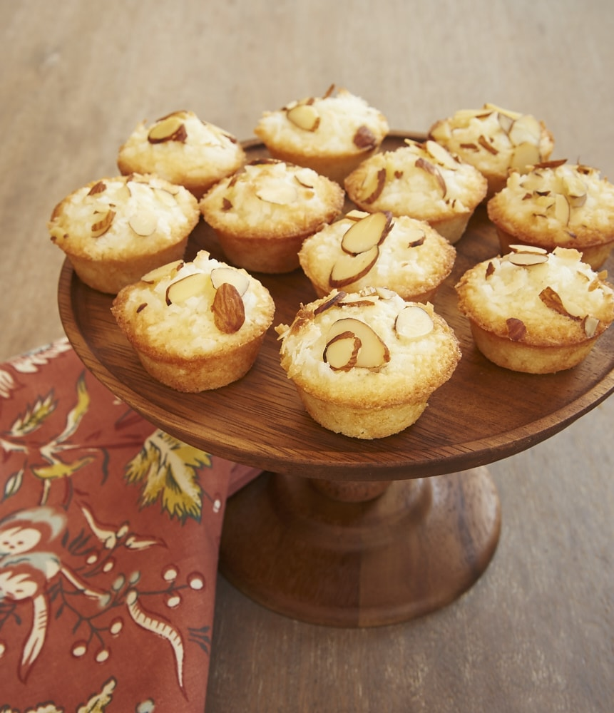 Coconut and almonds star in these delightful Mini Coconut Cakes.