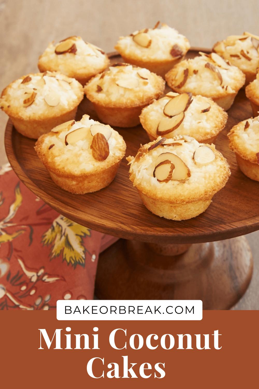 Mini Coconut Cakes bakeorbreak.com