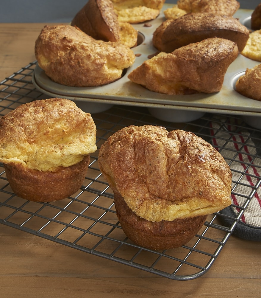 By following just a few simple tips, you can make perfect, delicious Herbed Popovers! - bakeorbreak.com
