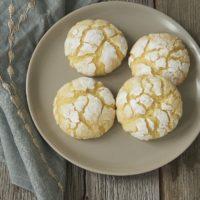 Key Lime Crinkle Cookies