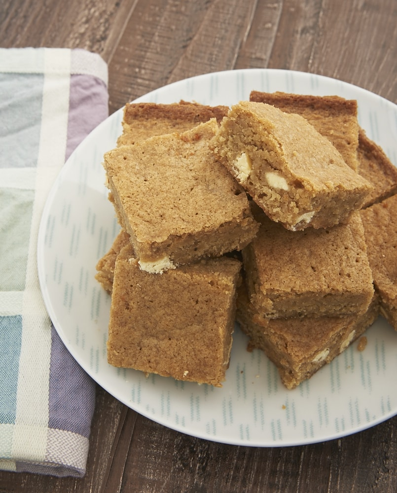 Spiced White Chocolate Blondies