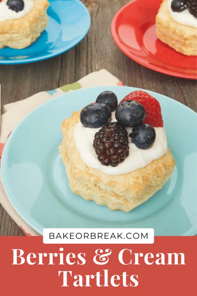 Berries and Cream Tartlets bakeorbreak.com