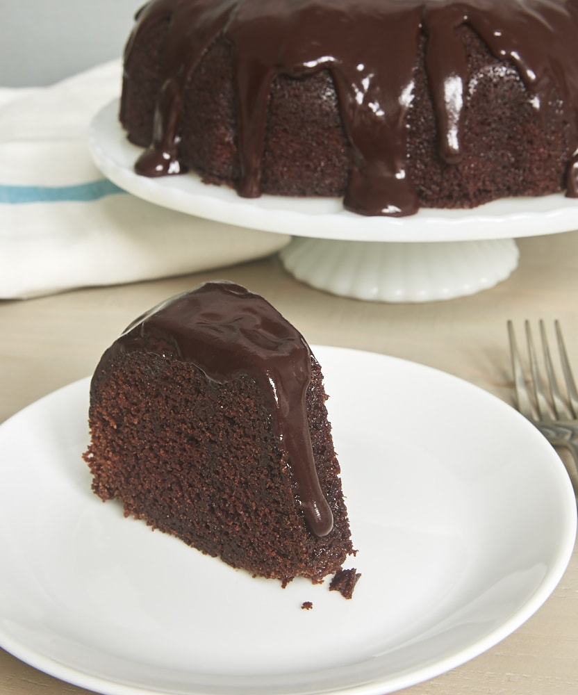 Chocolate Sour Cream Bundt Cake is the most delicious, moist, rich, downright amazing chocolate cake! - Bake or Break