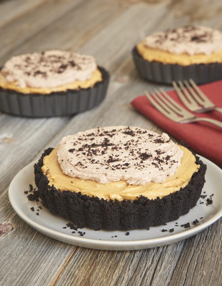 Dulce de Leche No-Bake Cheesecakes