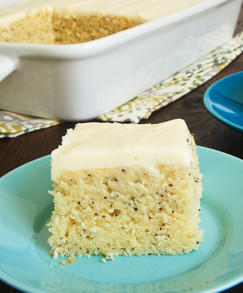 Lemon Poppy Seed Cake is a sweet, tart, moist, amazingly delicious cake. Such a bright, happy flavor! - Bake or Break