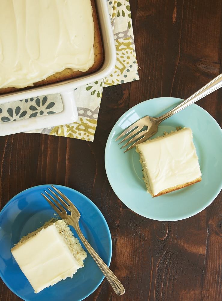 Lemon Poppy Seed Cake is a sweet, tart, moist, amazingly delicious cake. Such a bright, happy flavor! - Bake or Break