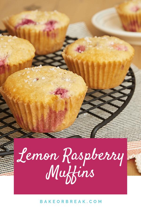 Lemon Raspberry Muffins bakeorbreak.com