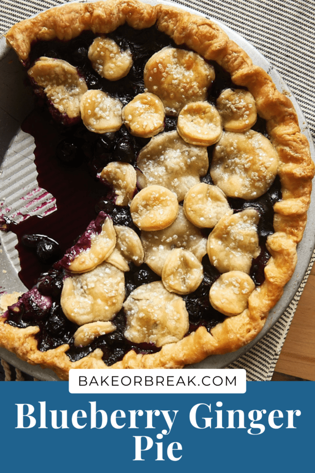 Blueberry Ginger Pie bakeorbreak.com