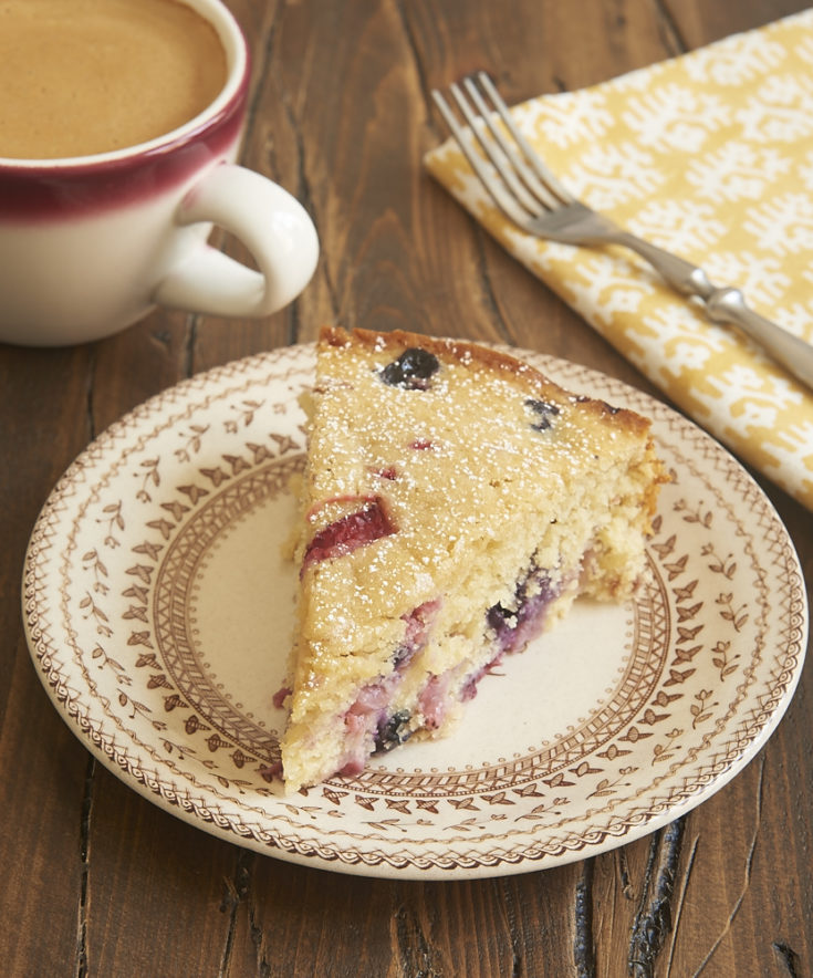 slice of Berry Muffin Cake