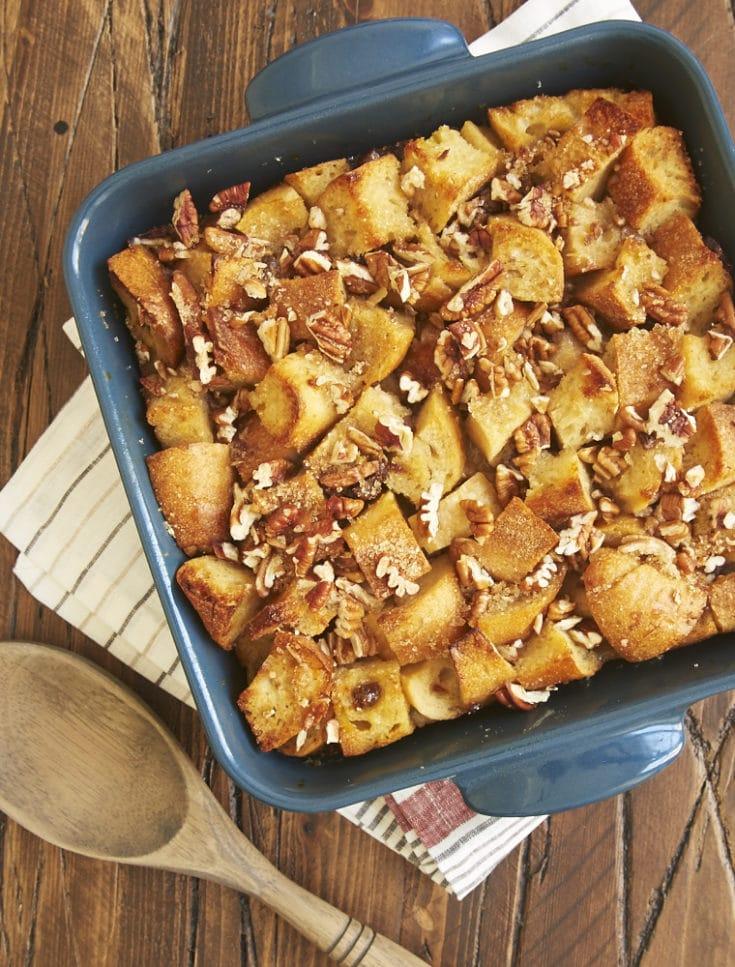 Maple Date Bread Pudding