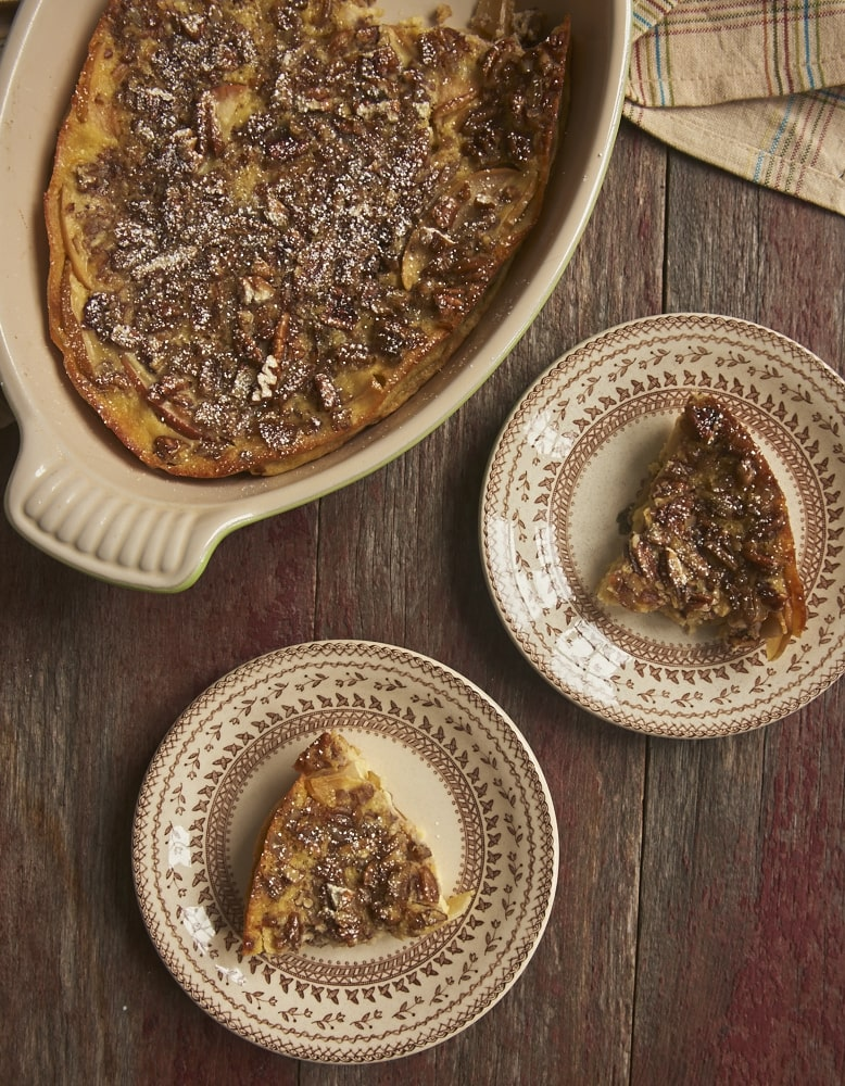 Apple Bourbon Clafoutis