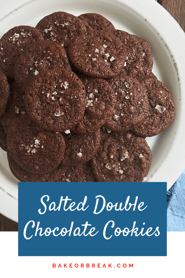 Salted Double Chocolate Cookies bakeorbreak.com