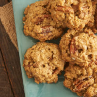 These big, chewy, hearty oatmeal cookies are filled with sweet, buttery, toasted pecans and little bites of caramel. - Bake or Break