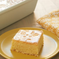Lemon Pound Cake Bars topped with a sweet, simple glaze