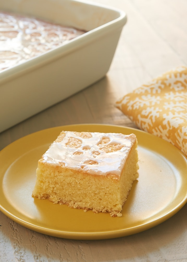 Lemon Pound Cake Bars turn pound cake into easy-to-serve bar form. Such big lemon flavor! - Bake or Break