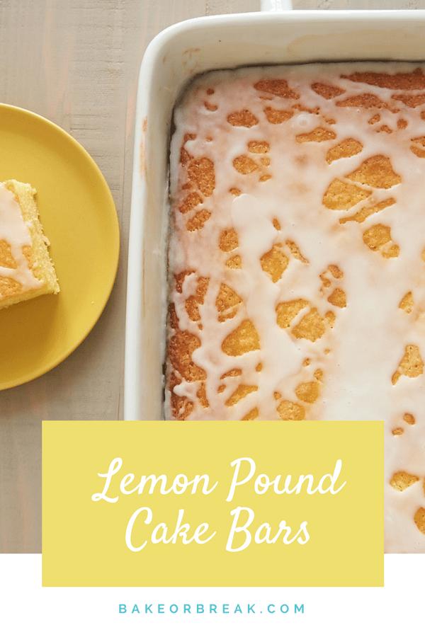 Lemon Pound Cake Bars bakeorbreak.com