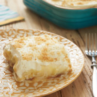 serving of Dulce de Leche Banana Pudding Bars