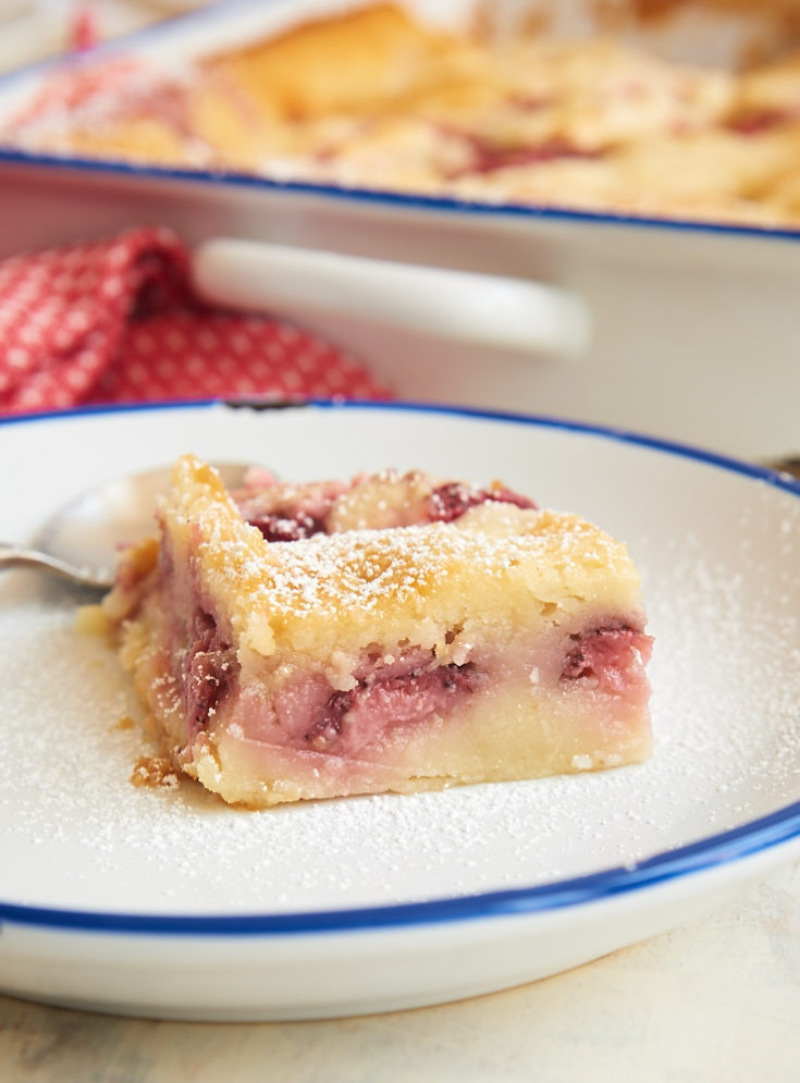 serving of Strawberry Cheesecake Cobbler