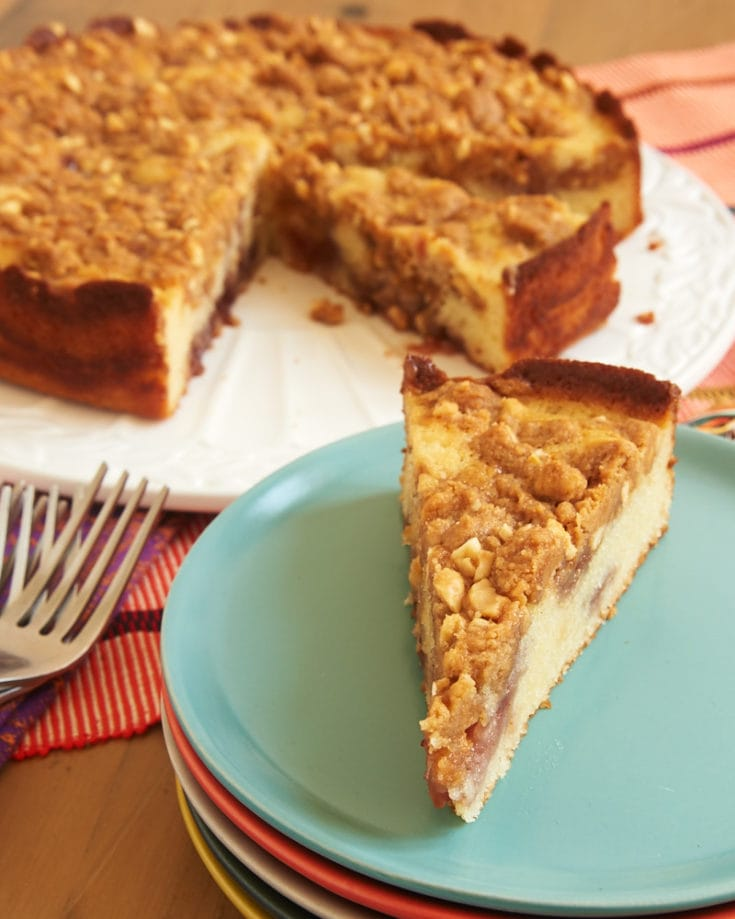 Peanut Butter and Jelly Crumb Cake combines a simple cake with the irresistible flavors of peanut butter and jelly for a wonderful cake that is perfect for a snack, coffee break, or dessert! - Bake or Break