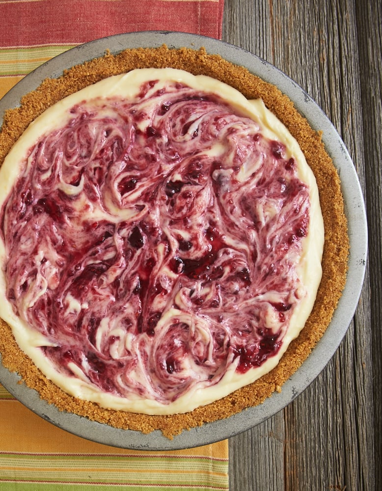Raspberry Lemon Icebox Pie
