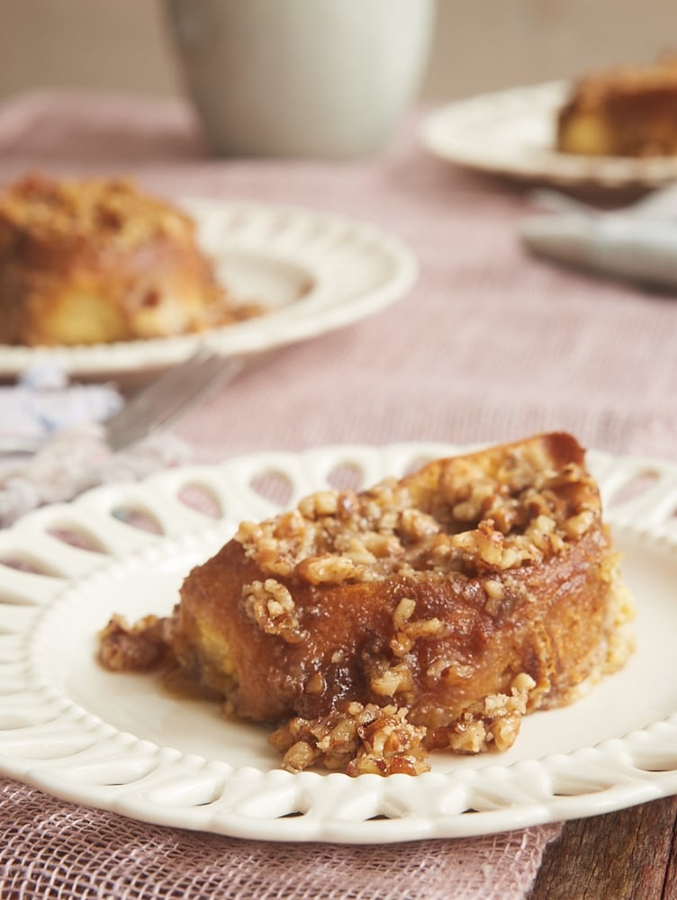 servings of Baked Praline French Toast
