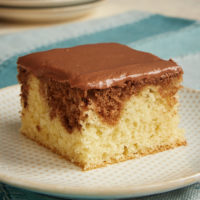 Slice of Chocolate Hazelnut Marble Cake