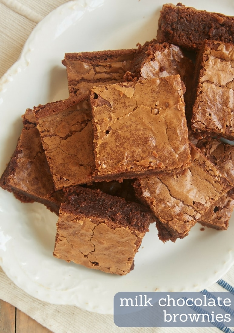 Sweet, smooth milk chocolate offers a tasty twist on a classic dessert with Milk Chocolate Brownies. - Bake or Break