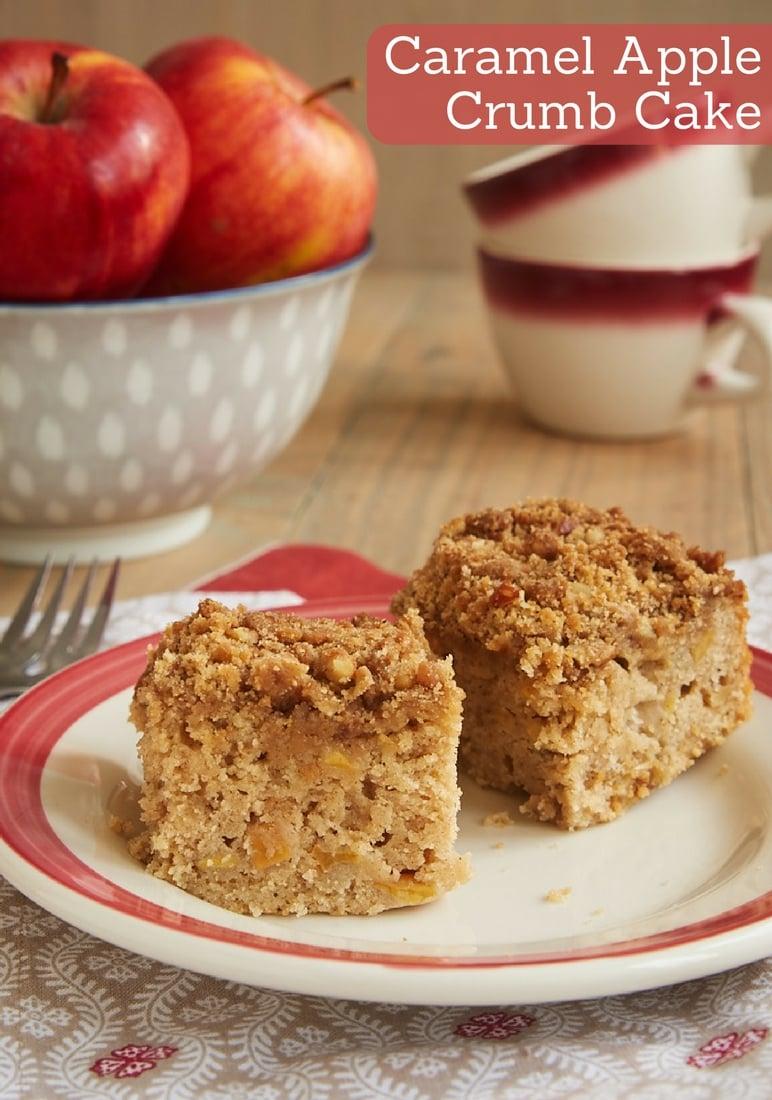 Caramel Apple Crumb Cake bakeorbreak.com