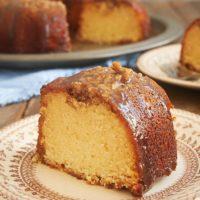 slice of Pecan Pie Bundt Cake