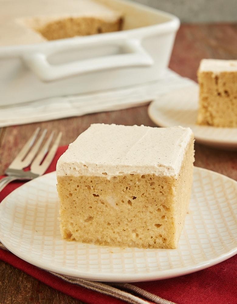 slices of Tres Leches Rum Cake