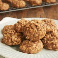 Apple Butter Oatmeal Cookies on a plate
